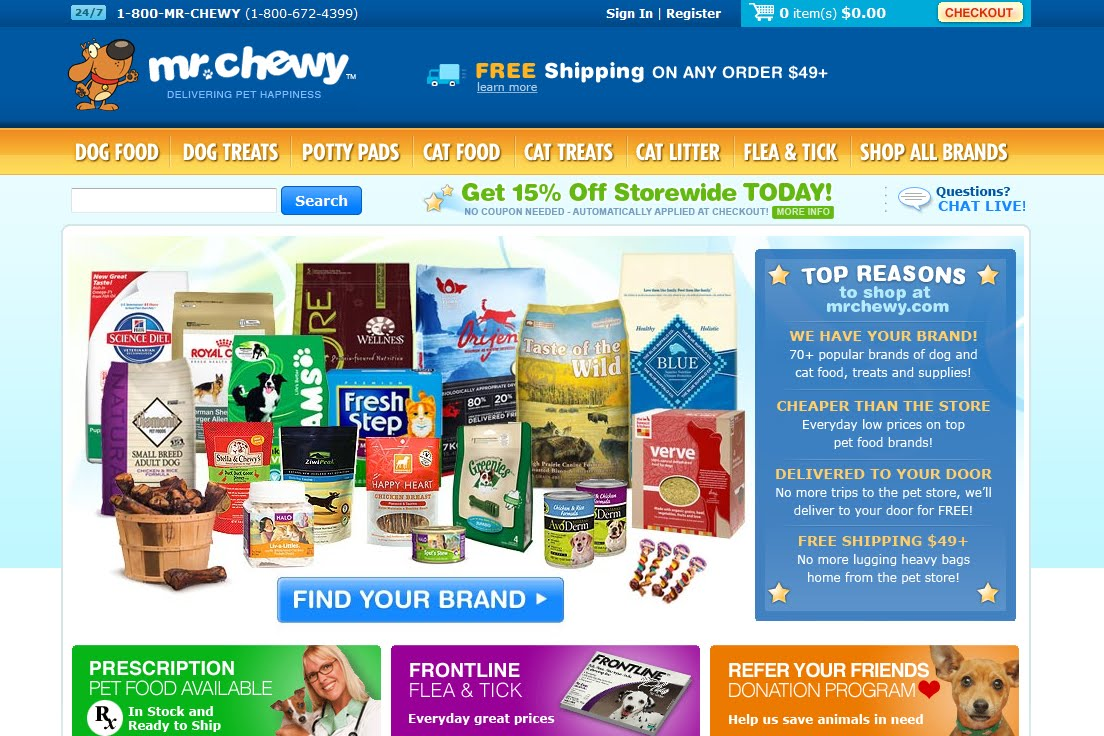 Mr. Chewy site