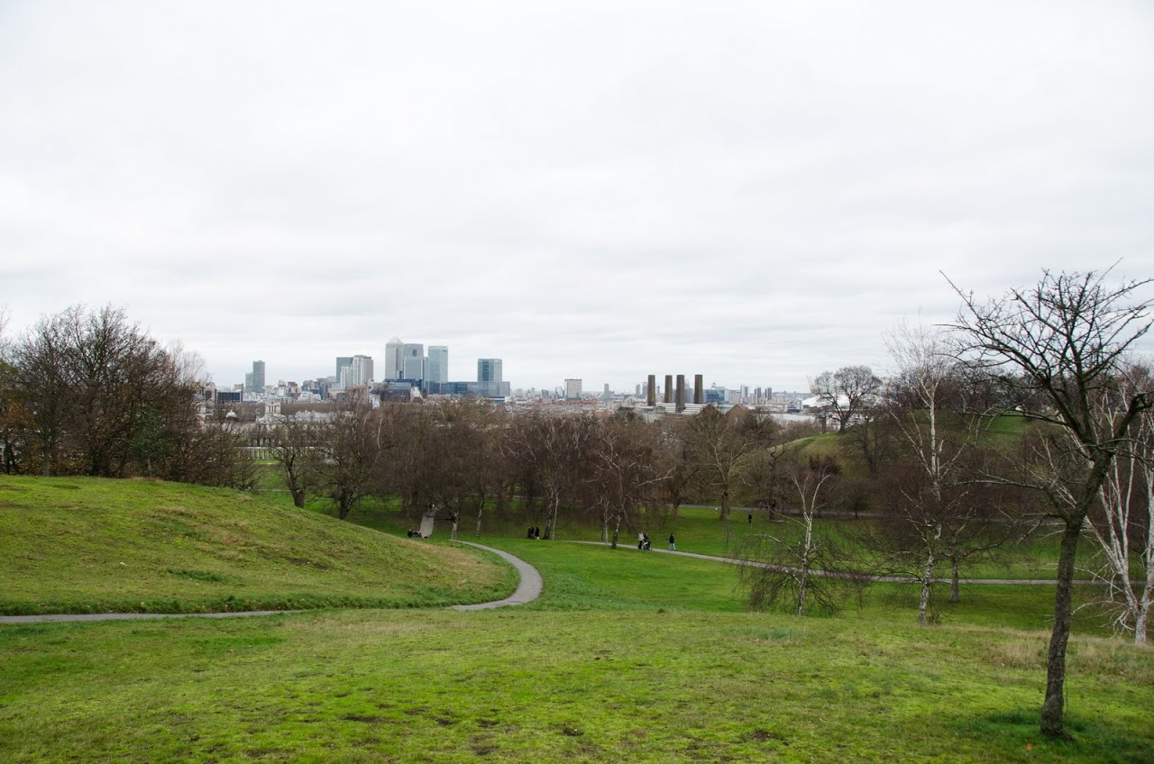 Views of London from Greenwich Park