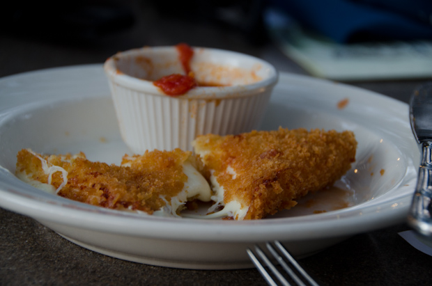 Panko crusted mozzarella