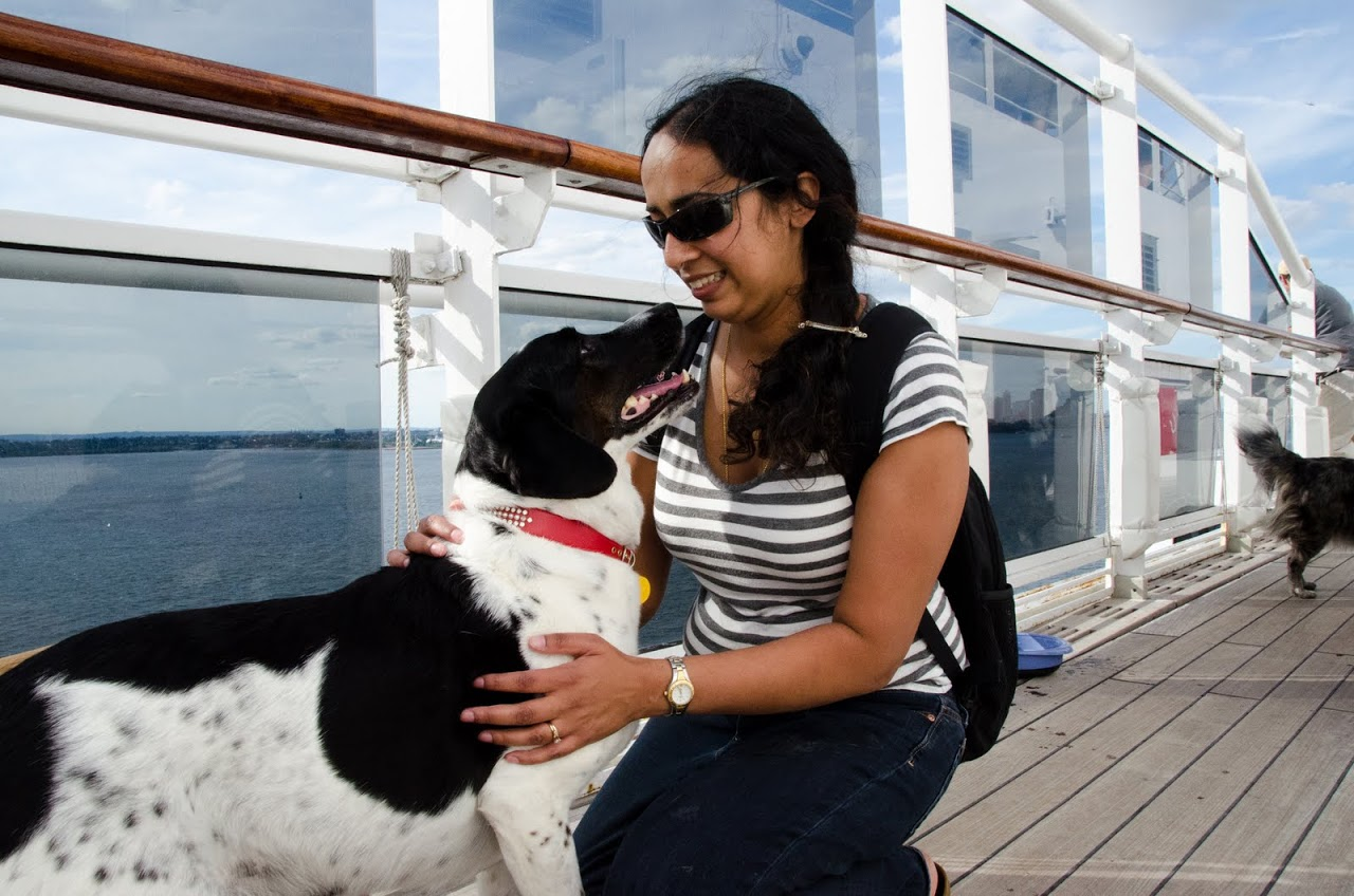 Me and Abby on the QM2